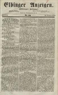 Elbinger Anzeigen, Nr. 83. Mittwoch, 13. Oktober 1852