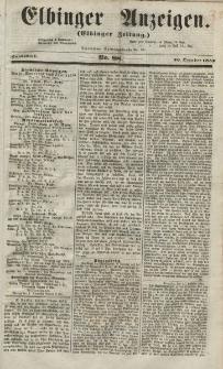 Elbinger Anzeigen, Nr. 88. Sonnabend, 30. Oktober 1852