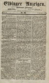 Elbinger Anzeigen, Nr. 99. Mittwoch, 8. Dezember 1852