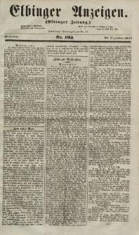 Elbinger Anzeigen, Nr. 103. Mittwoch, 22. Dezember 1852