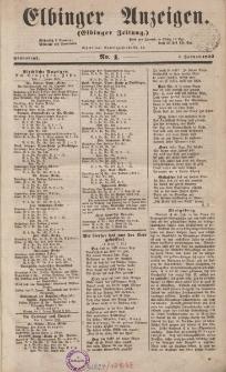 Elbinger Anzeigen, Nr. 1. Sonnabend, 1. Januar 1853