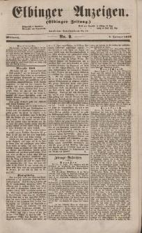 Elbinger Anzeigen, Nr. 2. Mittwoch, 5. Januar 1853