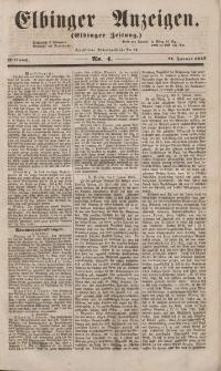 Elbinger Anzeigen, Nr. 4. Mittwoch, 12. Januar 1853