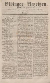 Elbinger Anzeigen, Nr. 9. Sonnabend, 29. Januar 1853