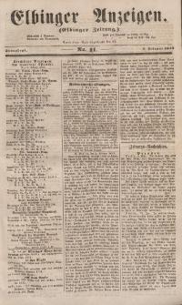Elbinger Anzeigen, Nr. 11. Sonnabend, 5. Februar 1853
