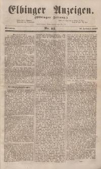 Elbinger Anzeigen, Nr. 14. Mittwoch, 16. Februar 1853