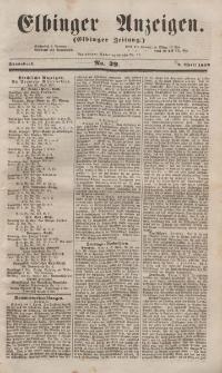 Elbinger Anzeigen, Nr. 29. Sonnabend, 9. April 1853