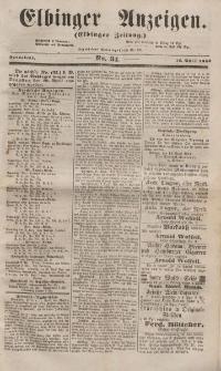 Elbinger Anzeigen, Nr. 31. Sonnabend, 16. April 1853