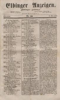Elbinger Anzeigen, Nr. 39. Sonnabend, 14. Mai 1853