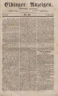 Elbinger Anzeigen, Nr. 40. Mittwoch, 18. Mai 1853