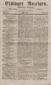 Elbinger Anzeigen, Nr. 41. Sonnabend, 21. Mai 1853
