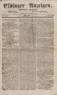 Elbinger Anzeigen, Nr. 45. Sonnabend, 4. Juni 1853