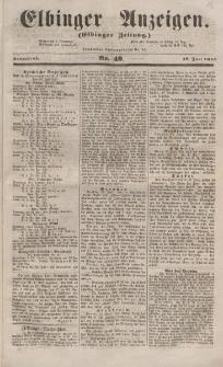 Elbinger Anzeigen, Nr. 49. Sonnabend, 18. Juni 1853