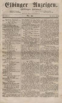 Elbinger Anzeigen, Nr. 51. Sonnabend, 25. Juni 1853