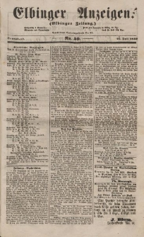 Elbinger Anzeigen, Nr. 59. Sonnabend, 21. Juli 1853