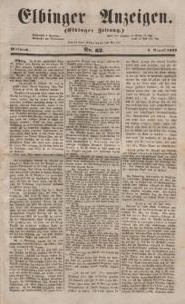 Elbinger Anzeigen, Nr. 62. Mittwoch, 3. August 1853