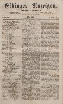 Elbinger Anzeigen, Nr. 63. Sonnabend, 6. August 1853