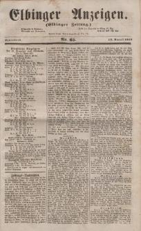 Elbinger Anzeigen, Nr. 65. Sonnabend, 13. August 1853