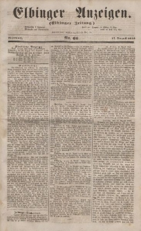 Elbinger Anzeigen, Nr. 66. Mittwoch, 17. August 1853