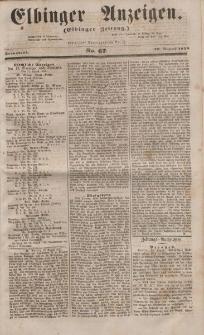 Elbinger Anzeigen, Nr. 67. Sonnabend, 20. August 1853