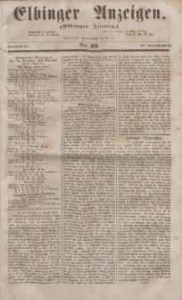 Elbinger Anzeigen, Nr. 69. Sonnabend, 27. August 1853