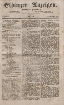Elbinger Anzeigen, Nr. 71. Sonnabend, 3. September 1853