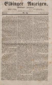 Elbinger Anzeigen, Nr. 72. Mittwoch, 7. September 1853