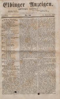 Elbinger Anzeigen, Nr. 77. Sonnabend, 24. September 1853