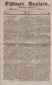 Elbinger Anzeigen, Nr. 78. Mittwoch, 28. September 1853