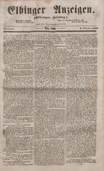 Elbinger Anzeigen, Nr. 80. Mittwoch, 5. Oktober 1853