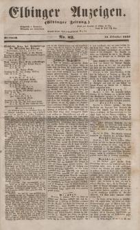 Elbinger Anzeigen, Nr. 82. Mittwoch, 12. Oktober 1853