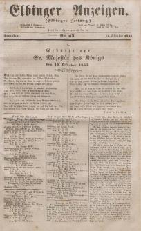 Elbinger Anzeigen, Nr. 83. Sonnabend, 15. Oktober 1853