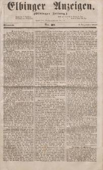 Elbinger Anzeigen, Nr. 98. Mittwoch, 7. Dezember 1853