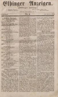 Elbinger Anzeigen, Nr. 5. Sonnabend, 14. Januar 1854
