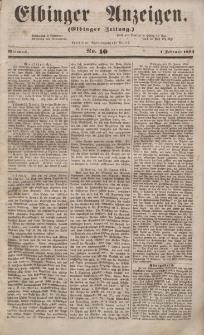Elbinger Anzeigen, Nr. 10. Mittwoch, 1. Februar 1854