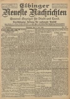 Elbinger Neueste Nachrichten, Nr. 153 Mittwoch 3 Juli 1912 64. Jahrgang