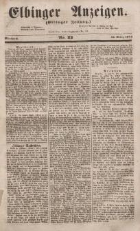 Elbinger Anzeigen, Nr. 22. Mittwoch, 15. März 1854