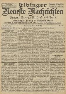 Elbinger Neueste Nachrichten, Nr. 154 Donnerstag 4 Juli 1912 64. Jahrgang