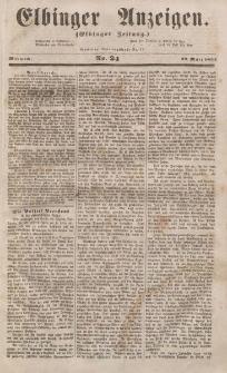 Elbinger Anzeigen, Nr. 24. Mittwoch, 22. März 1854