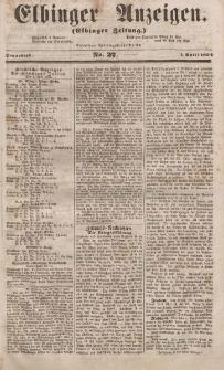Elbinger Anzeigen, Nr. 27. Sonnabend, 1. April 1854
