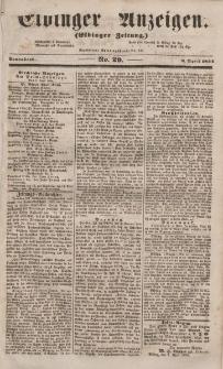Elbinger Anzeigen, Nr. 29. Sonnabend, 8. April 1854