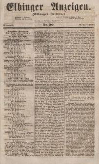 Elbinger Anzeigen, Nr. 30. Mittwoch, 12. April 1854