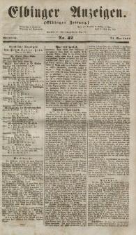 Elbinger Anzeigen, Nr. 42. Mittwoch, 24. Mai 1854