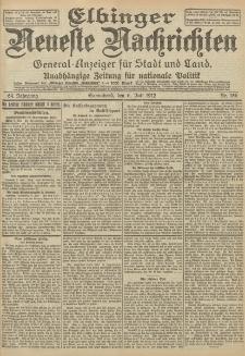 Elbinger Neueste Nachrichten, Nr. 156 Sonnabend 6 Juli 1912 64. Jahrgang