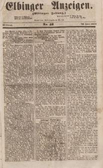 Elbinger Anzeigen, Nr. 52. Mittwoch, 28. Juni 1854