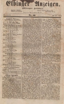 Elbinger Anzeigen, Nr. 59. Sonnabend, 22. Juli 1854