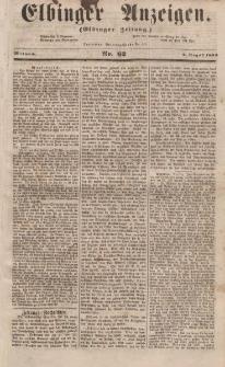 Elbinger Anzeigen, Nr. 62. Mittwoch, 2. August 1854
