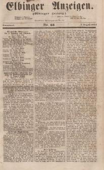 Elbinger Anzeigen, Nr. 63. Sonnabend, 5. August 1854