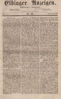 Elbinger Anzeigen, Nr. 68. Mittwoch, 23. August 1854