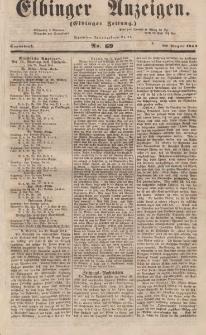 Elbinger Anzeigen, Nr. 69. Sonnabend, 26. August 1854